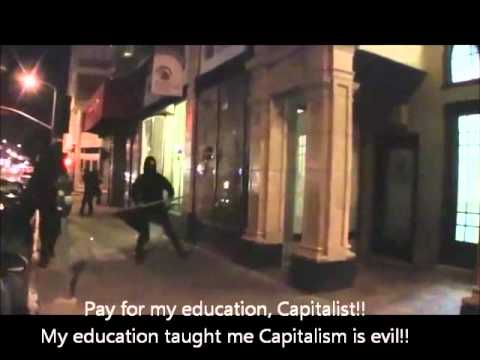Obama's Occupying Black Bloc Destroying San Francisco