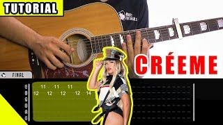 Cómo tocar Créeme de Karol G, Maluma en Guitarra | Tutorial + PDF GRATIS Video