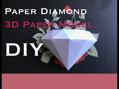 Tutorial on a DIY 3d paper diamond model