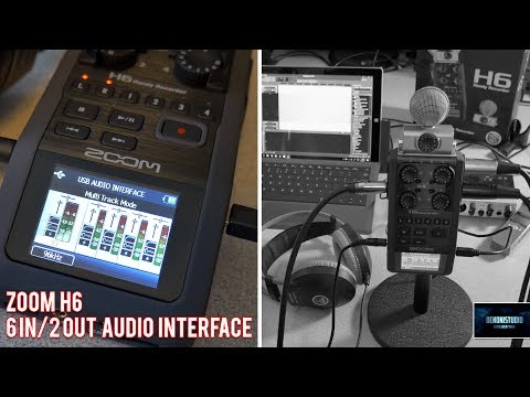 ZOOM H6 | USE AS AN AUDIO INTERFACE [6in/2out] - YouTube