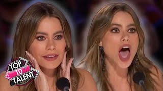 TOP 10 BEST Sofia Vergara Moments On America's Got Talent 2020!