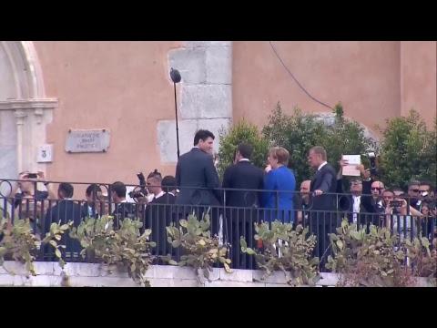 #G7Taormina I Leader raggiungono l'Hotel San Domenico (26/05/2017)