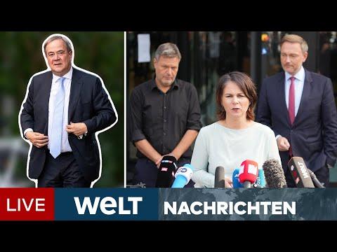 UNION BRÖCKELT - LASCHET WACKELT - Kommt die AMPEL mit SPD, GRÜNE & FDP?   WELT Newsstream