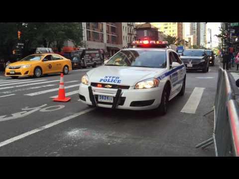 NYPD & UNITED STATES SECRET SERVICE ESCORTING DIPLOMATS IN MIDTOWN, MANHATTAN, NEW YORK CITY.