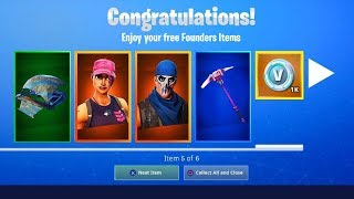 *NEW* HOW TO GET FREE FOUNDERS PACK REWARDS IN FORTNITE!