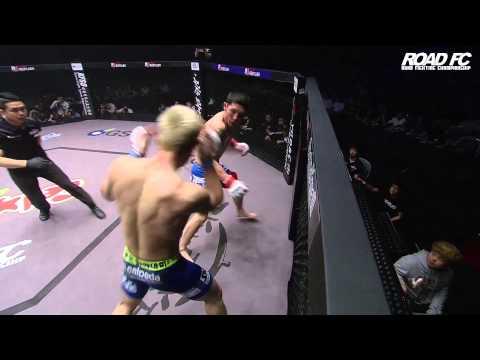 ROAD FC 023 Kim Seung-Yeon defeats Oka(Nandin Erdene) by TKO