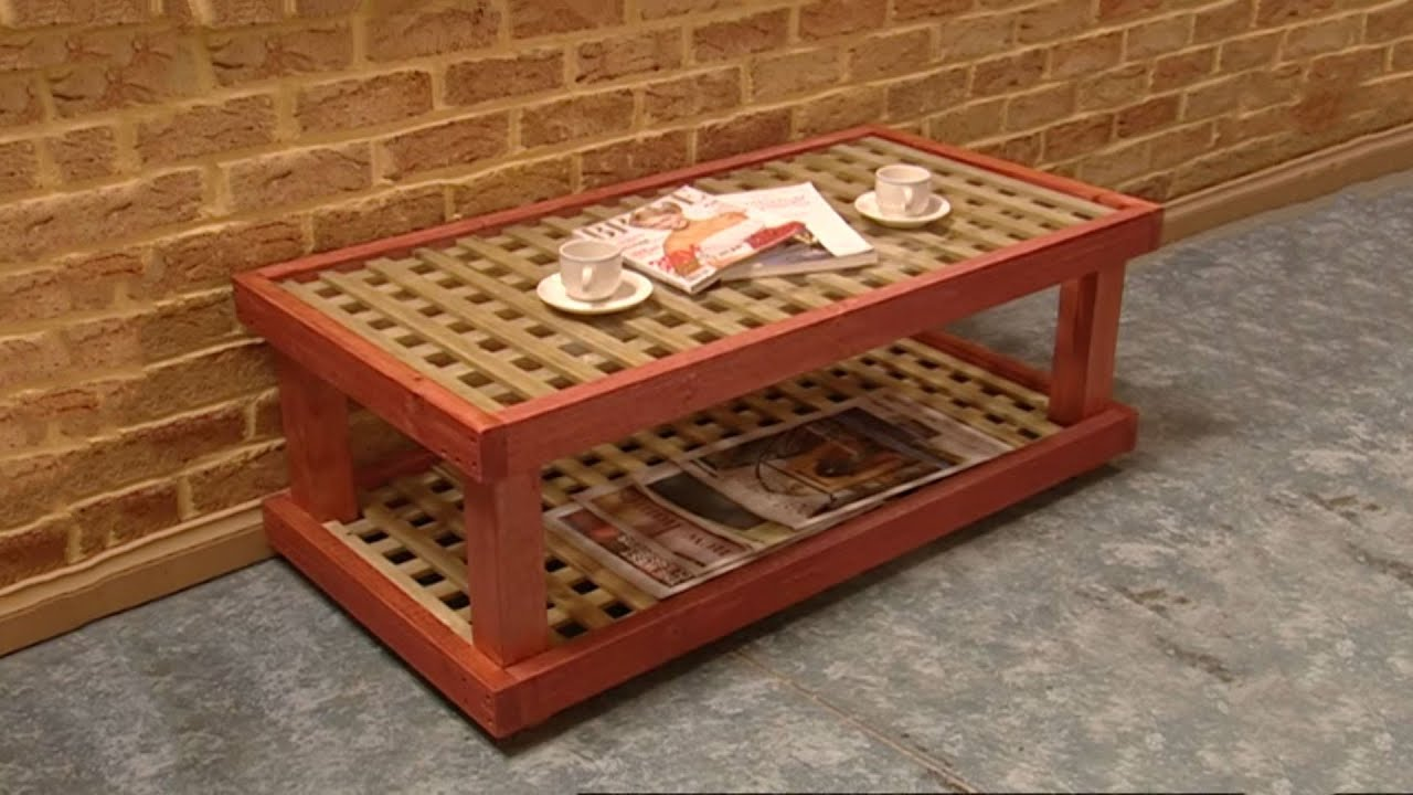 How to Build a Coffee Table - YouTube