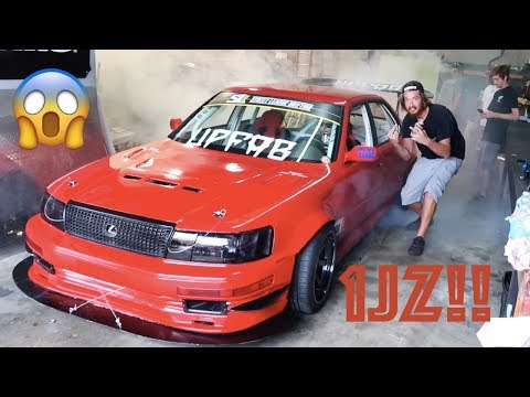 SHOP BURNOUTS IN 4 DOOR DRIFT CARS (UPFAB BBQ)