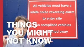 Repeat youtube video Why Do Reversing Trucks Not Beep Any More?