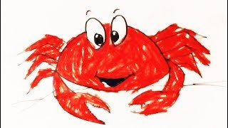 How to Crab Coloring /kids drawing / kids coloring crab drawing step by step