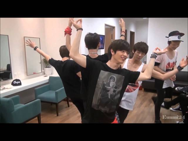 BTOB dancing to EXO - Wolf