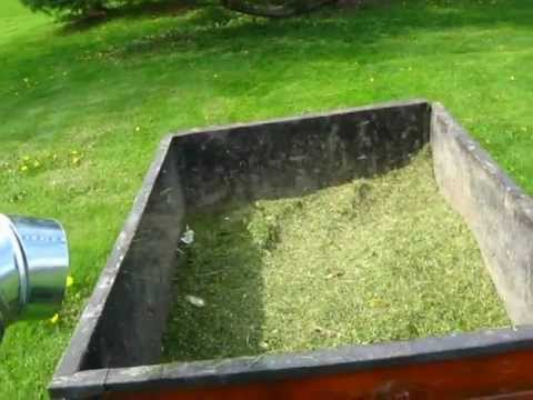 Redneck Rider Homemade Grass Catcher Attachment Prototype