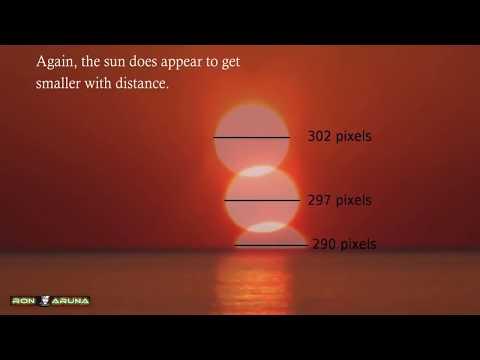 Восход и заход солнца на плоской земле