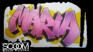 Graffiti MARIA - How to draw graffiti names | By ScooM