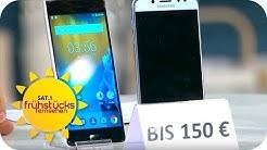 Smartphones im Test: Was taugen 150€-Smartphones?   SAT.1 Frühstücksfernsehen   TV
