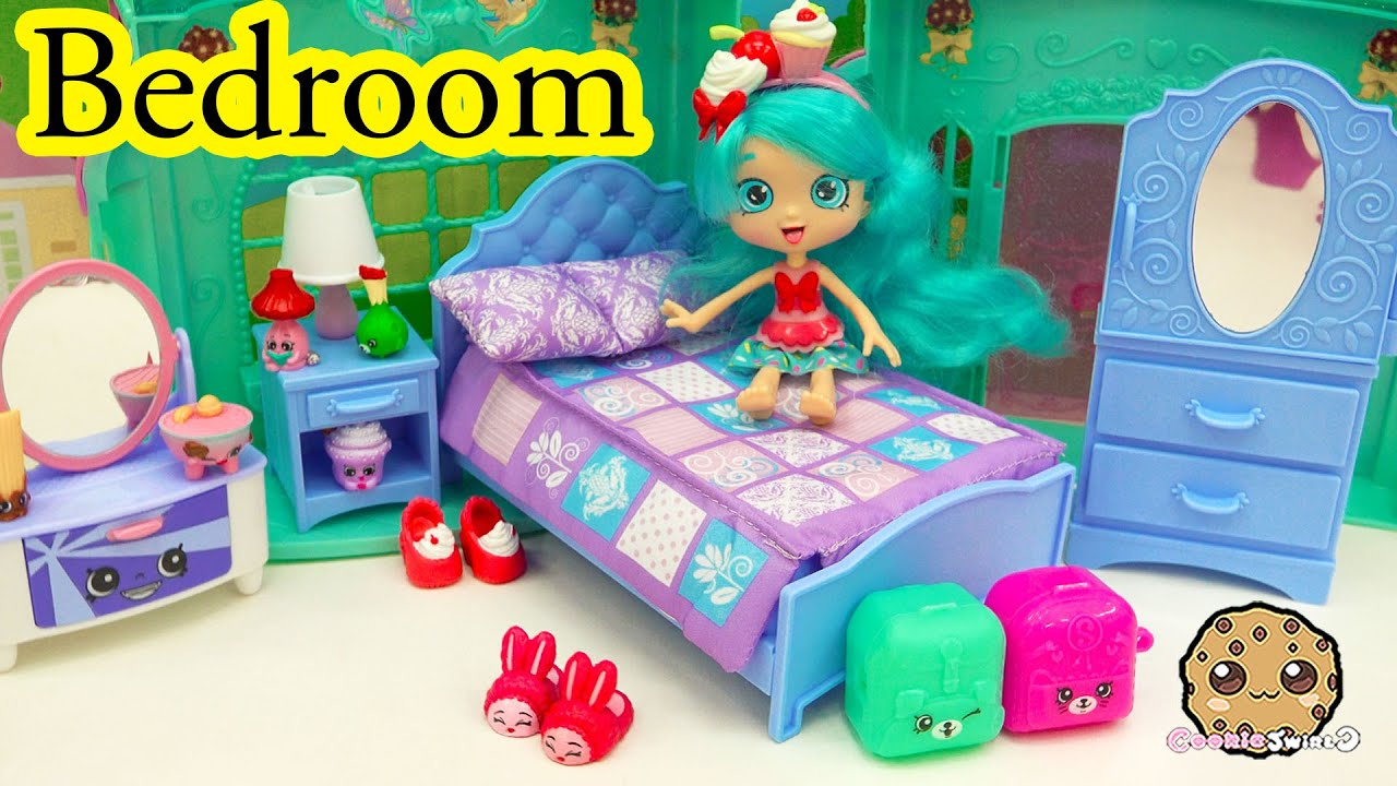 Shoppies doll jessicake bedroom shopkins season 5 blind bag unboxing