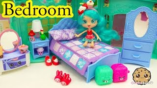 Shoppies Doll Jessicake Bedroom + Shopkins Season 5 Blind Bag Unboxing - Cookieswirlc Video