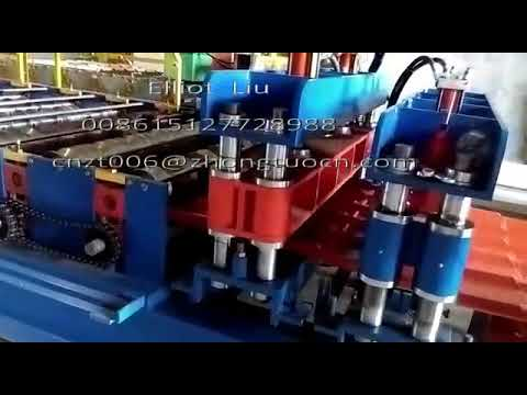 Glazed roof tile roll forming machine for India market