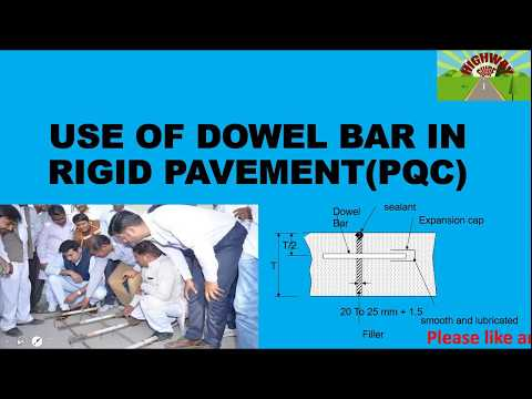 USE OF DOWEL BAR IN RIGID PAVEMENT(PQC)
