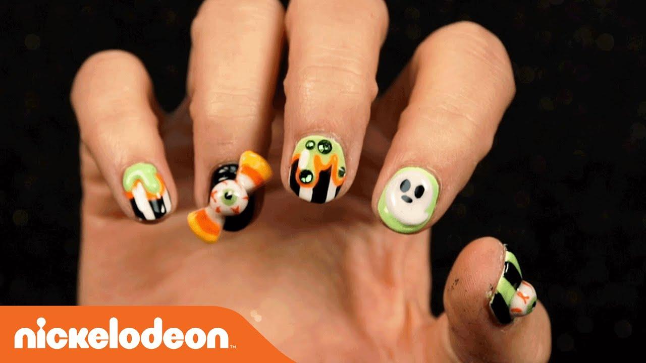 Diy Spooky Nail Art Tutorial Nick Youtube