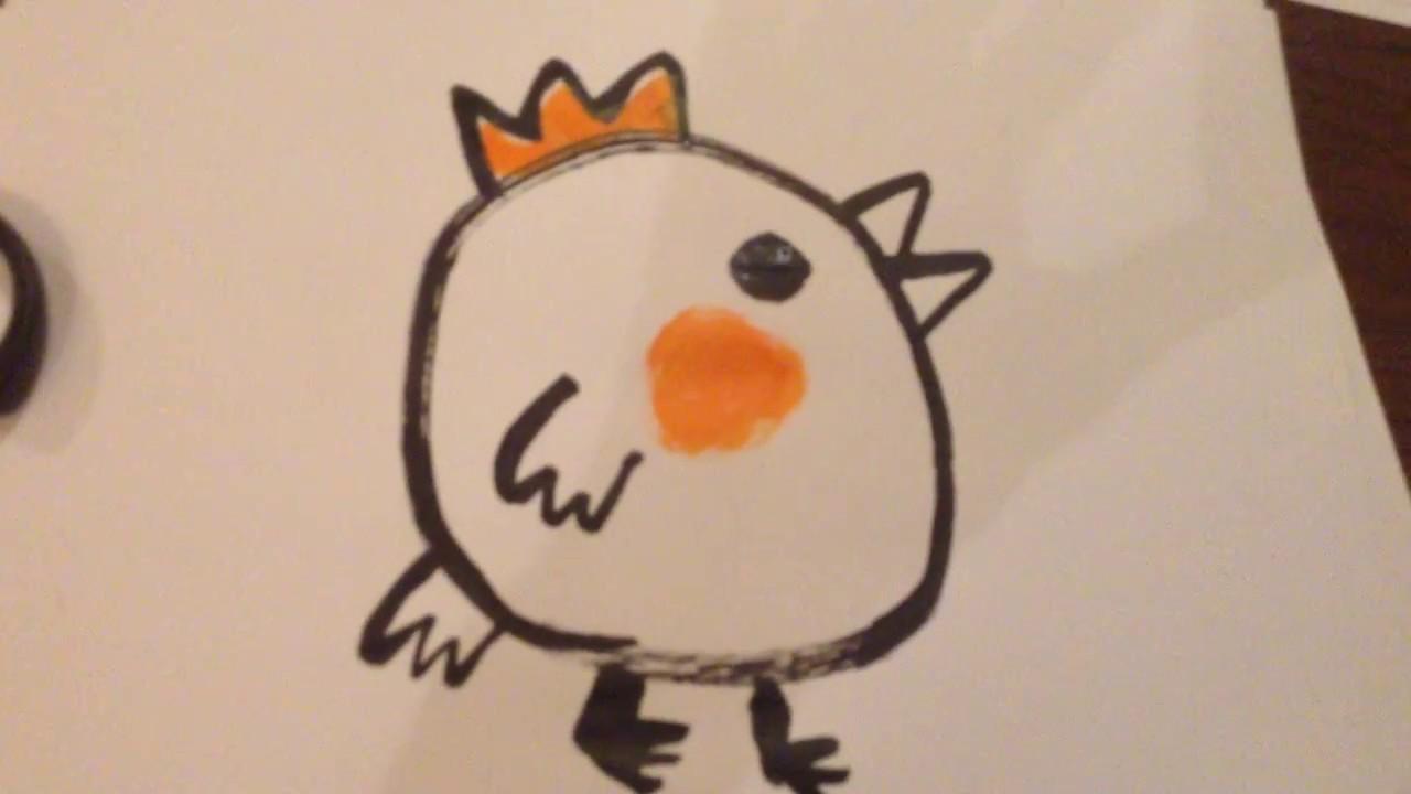 年賀状 にわとり 酉 鶏 イラスト 筆文字 かわいい 下関 弘々家 - youtube