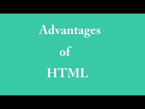 Advantages Of HTML In Hindi
