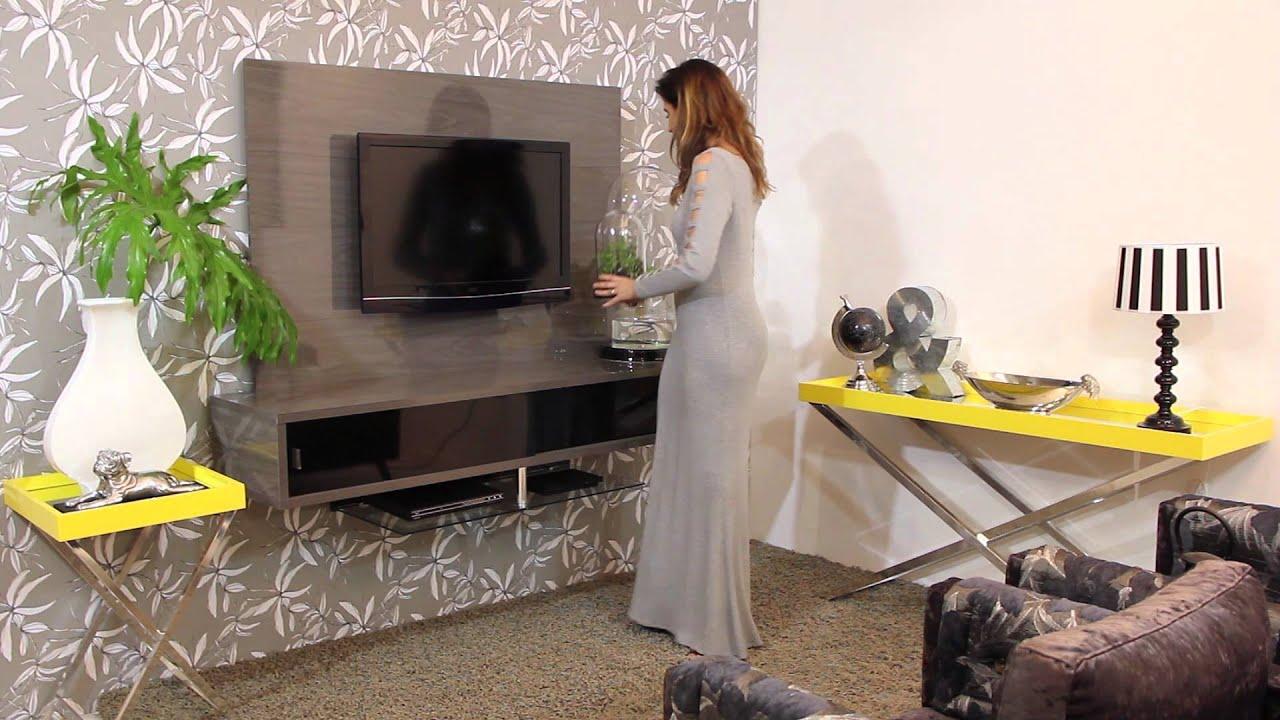 #C0AA0B Decoração Moderna Madetec   1920x1080 píxeis em Decoração De Sala Com Tv Lcd Na Parede