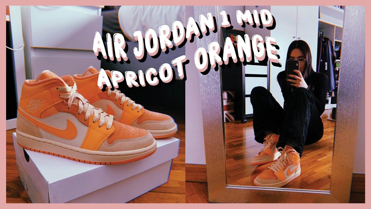 · Air Jordan 1 Mid Apricot Orange | Unboxing On feet | NOKAL ·