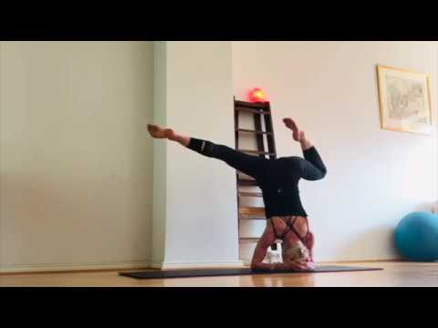 headstand and splits  yoga flow  youtube