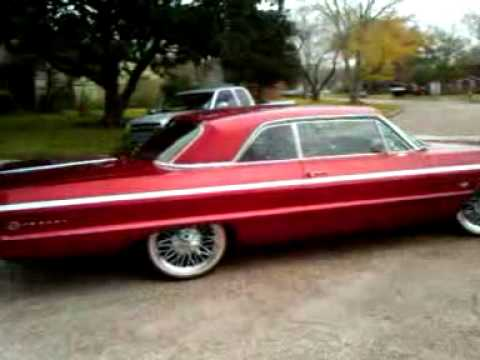 64 Impala Ss Candy Red On Swangers Vouges Youtube