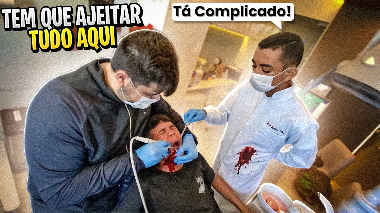 LEVEI O MENOR DO GRAU NO DENTISTA!😭😭