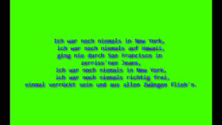 Udo Jürgens Ich war noch niemals in New York Lyrics