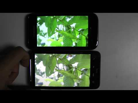 Super Amoled vs Super LCD vs Amoled Full HD 1080p (Samsung galaxy s vs HTC Desire HD vs HTC Desire)