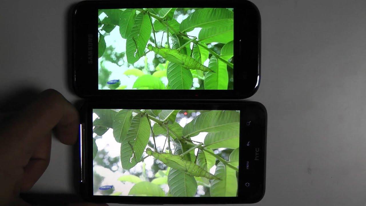 Super Amoled vs Super LCD vs Amoled Full HD 1080p (Samsung galaxy s vs HTC  Desire HD vs HTC Desire)