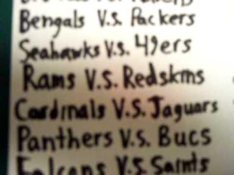 2009 NFL regular season schedule week 1 matchups
