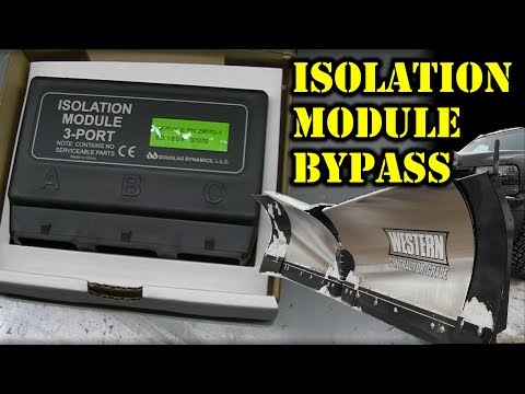 Western Snowplow Isolation Module Bypass
