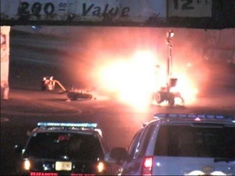 Raw: Video of Elizabeth, New Jersey Explosion