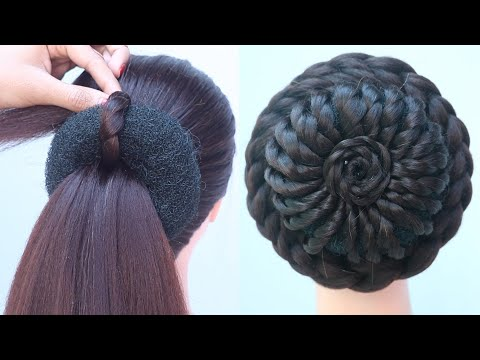 latest-juda-hairstyle-for-bridal-||-hairstyle-for-party-||-ladies-hair-style-||-bun-hairstyle