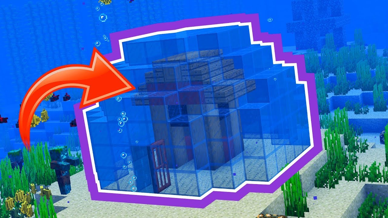 tips on how to build a home underwater in minecraft youtube