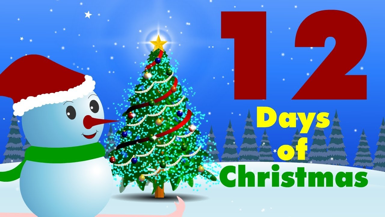 12 Days Of Christmas List.12 Days Of Christmas Hooplakidz Tv