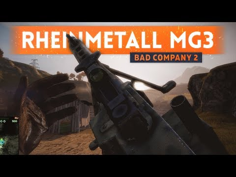 ➤ 1000 ROUNDS PER MINUTE MACHINE GUN! - Battlefield Bad Company 2 (MG3)