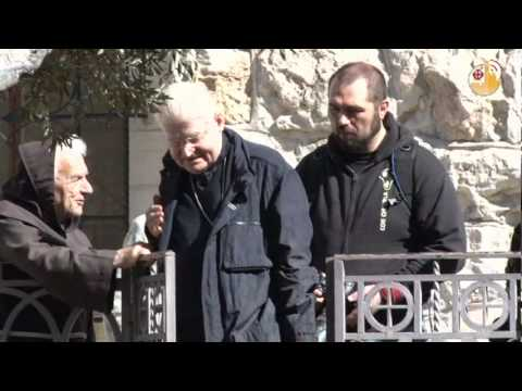 Interview with Cardinal Scola at Gethsemane