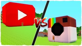 👉 Casa de YOUTUBE vs casa de INSTAGRAM - MINECRAFT