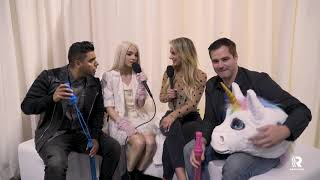 Poppy interviews the AMP Morning Show on the AMA's Red Carpet