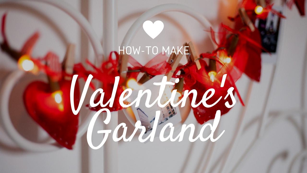diy valentines garland