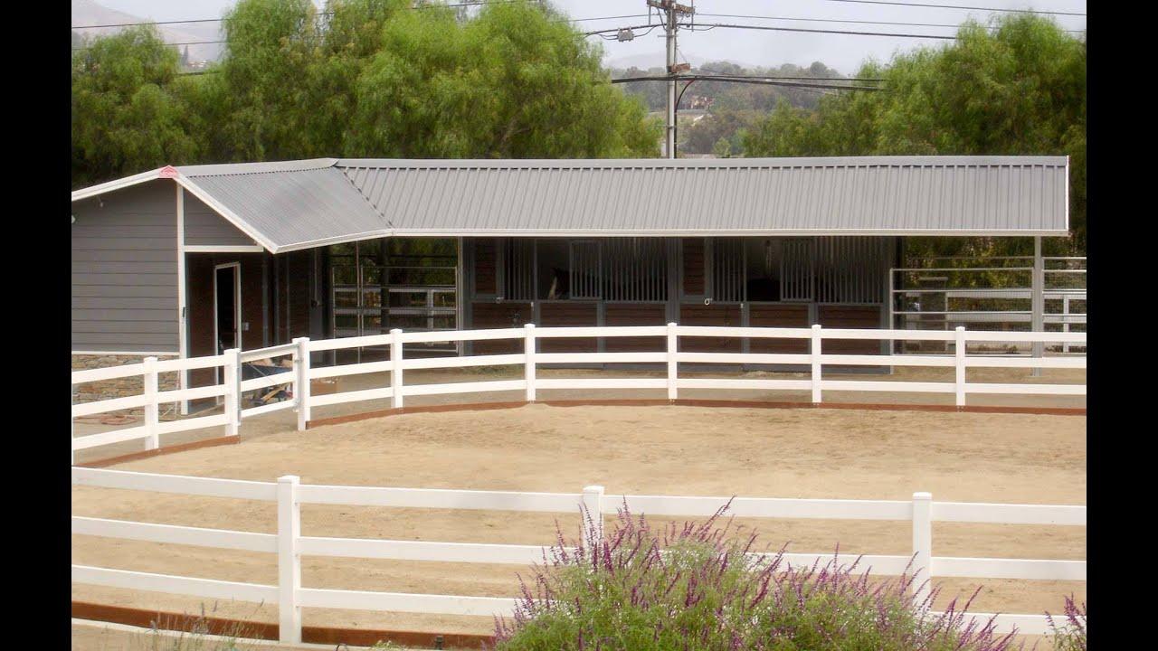 L Shaped Shedrow Horse Barn Youtube