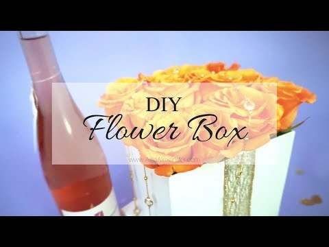 DIY Flower Box w/ Real Flowers
