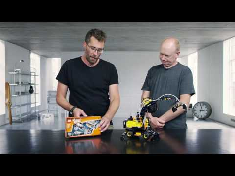 Behind The Design: LEGO Technic Builds An Air-Powered Mini Wheeled Volvo Excavator