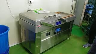 복식 챔버식 진공포장기 SWP 500D 닭고기 가공품 …