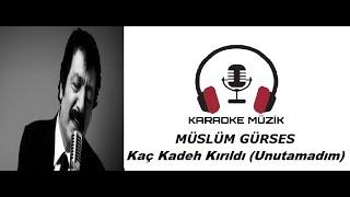 Kaç Kadeh Kırıldı Şarhoş Gönlümde (Unutamadım) KARAOKE (Cover)